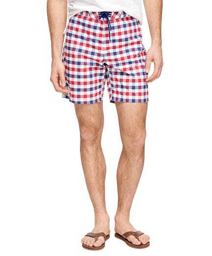 "8"" Gingham Board Shorts"