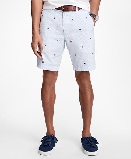 Pinwheel Seersucker Shorts