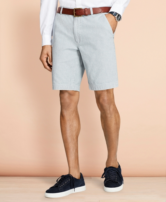 Stripe Chambray Shorts Chambray