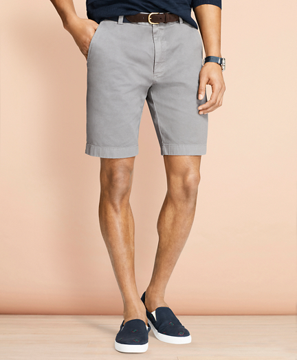 Stretch Cotton Twill Shorts