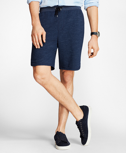 Indigo French Terry Shorts