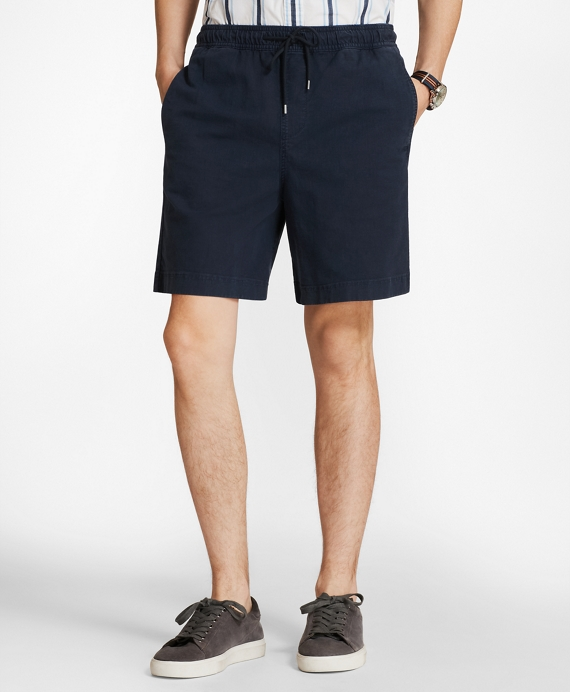 Elastic Stretch Chino Shorts Navy