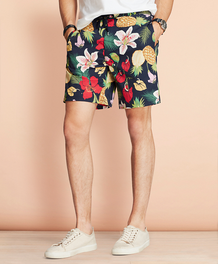 "Hybrid 7"" Floral Swim Trunks"