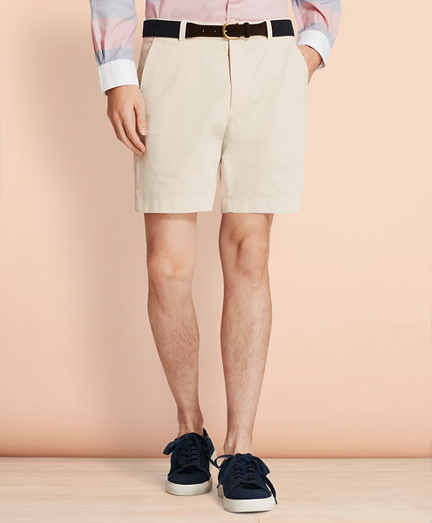 "Garment-Dyed Stretch Chino 7"" Shorts"