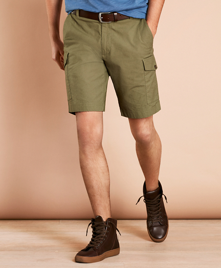 Cotton Ripstop Cargo Shorts