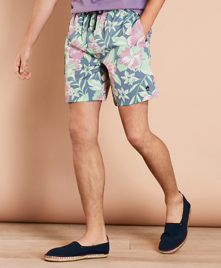 "Floral 6"" Swim Trunks"