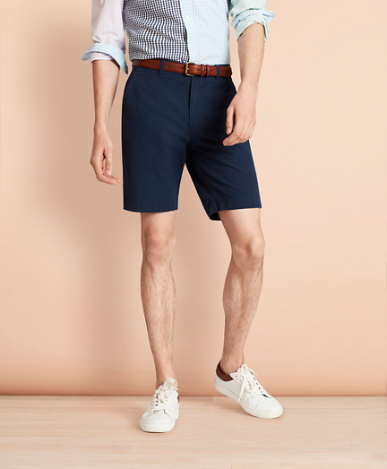 Cotton Seersucker Shorts