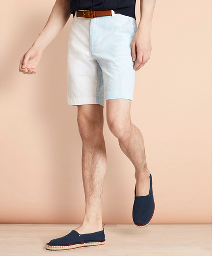 Cotton Seersucker Fun Shorts