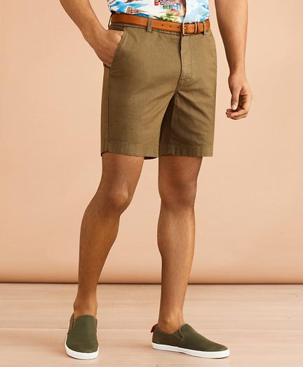 "Cotton-Linen 7"" Chino Shorts"