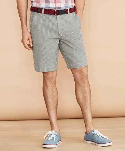 Striped Indigo Chino Shorts