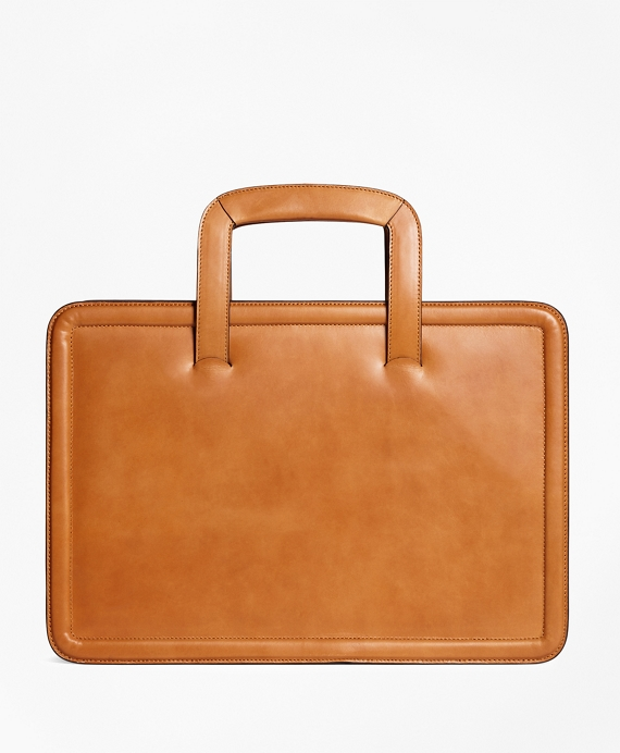 Leather Briefcase Cognac