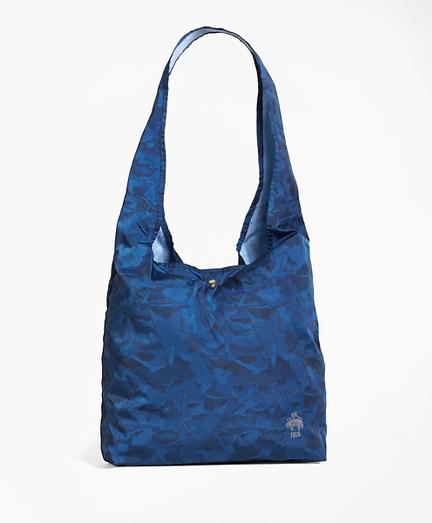 Camo-Print Nylon Shopper