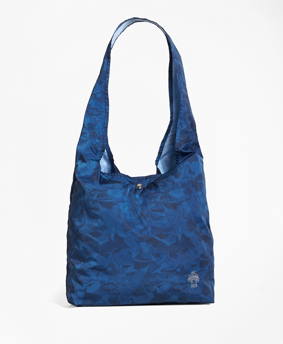 Camo-Print Nylon Shopper Navy