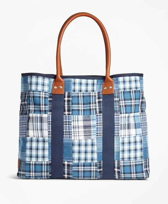 Patchwork Tote Bag Blue