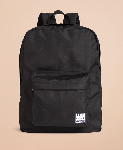 Red Fleece Logo Backpack