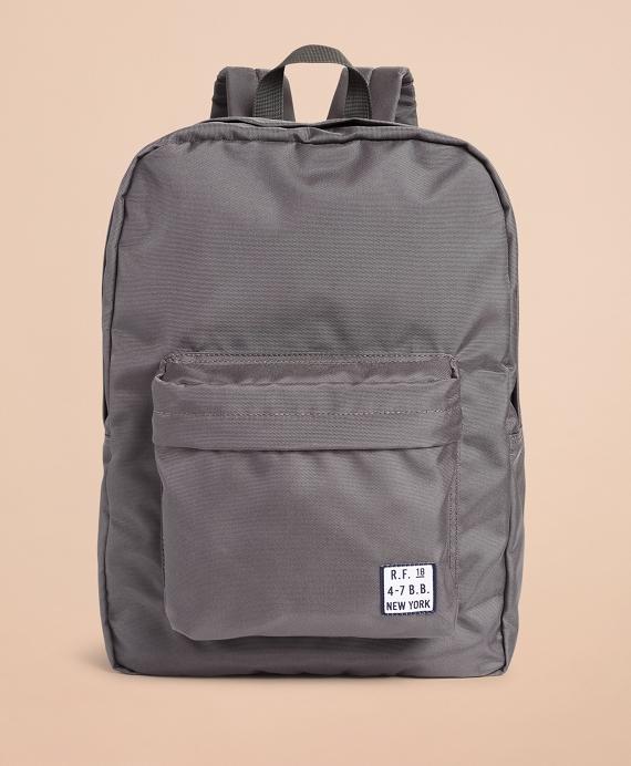 Red Fleece Logo Backpack Grey