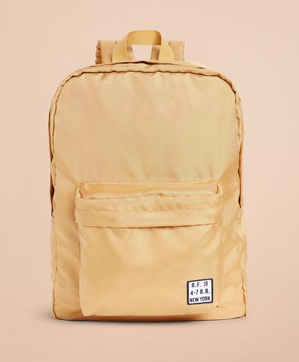 Red Fleece Logo Backpack