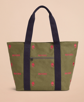 Logo-Embroidered Canvas Tote Bag