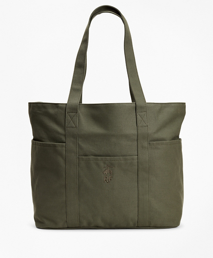 Red Fleece Canvas Tote Bag