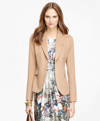 Camel Hair Two-Button Jacket