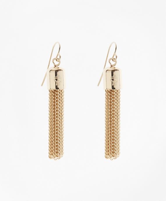 Tassel Drop Earrings Gold