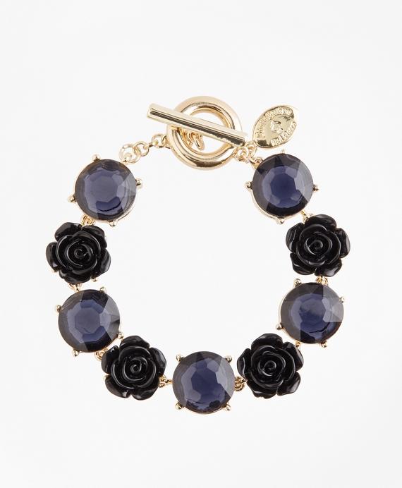 Rose and Stone Bracelet Gold