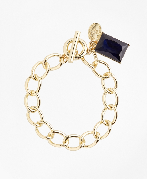 Stone Charm Bracelet Gold