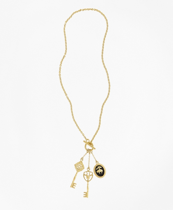Gold-Plated Key Necklace Gold