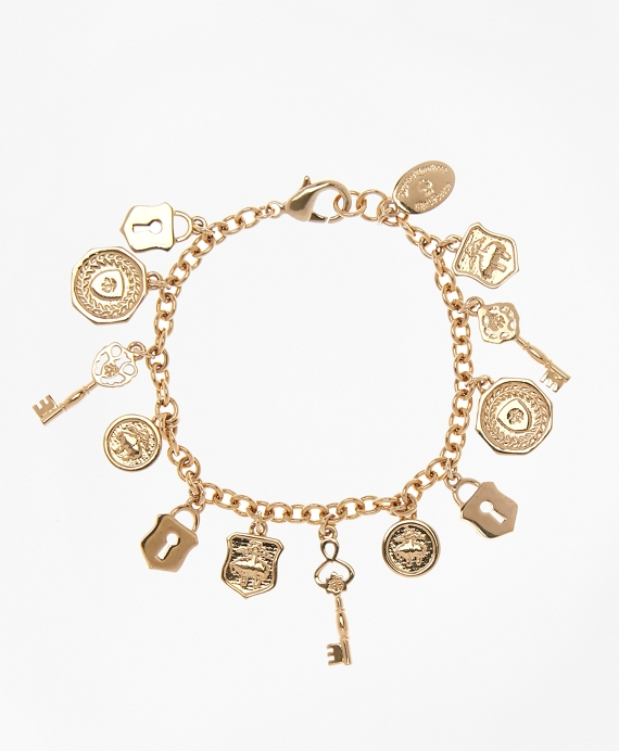 Gold-Plated Golden Fleece® Charm Bracelet Gold