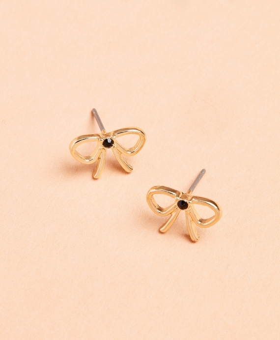 Bow Stud Earrings Gold