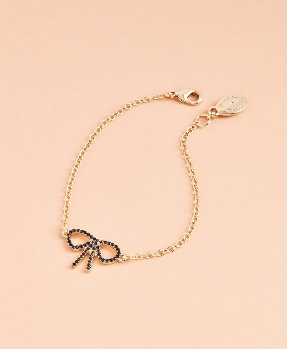 Crystal Pave Bow Bracelet Gold