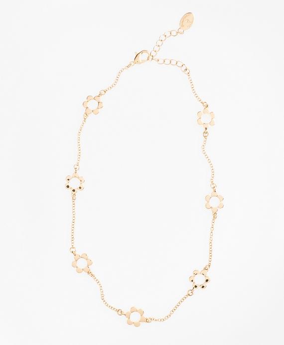 Floral Station Necklace Gold