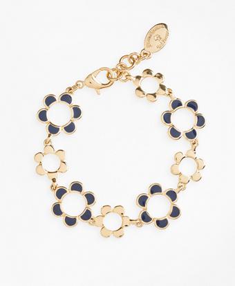 Enameled Floral Bracelet