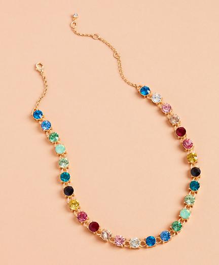 Rainbow Rhinestone Necklace