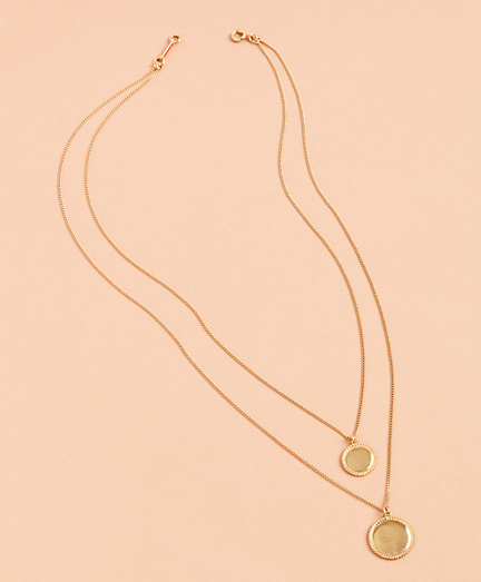 Demi Fine Layered Disk Necklace