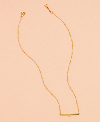 Demi Fine Bar Necklace