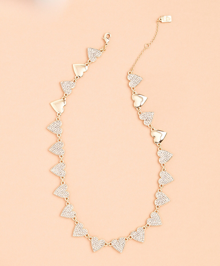 Crystal-Covered Heart Necklace