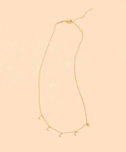 Demi-Fine Crystal Drop Necklace