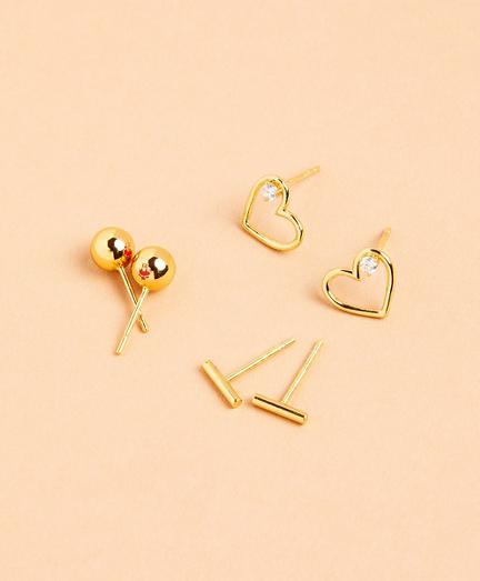 Demi-Fine Earrings - Set of Three