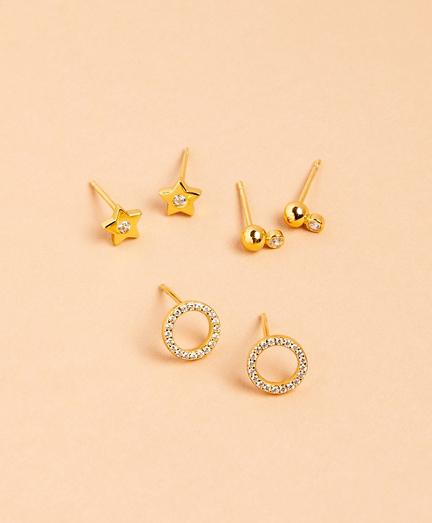 Sparklers Demi-Fine Earrings - Set of Three
