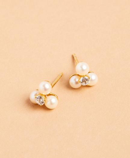 Demi-Fine Freshwater Pearl & Crystal Earrings
