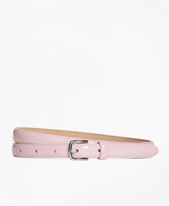 Patent Leather Skinny Belt Light Pink