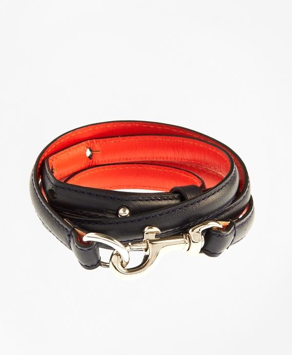 Pebble Leather Belt Navy