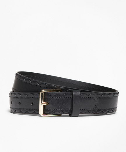 Scalloped Leather Belt