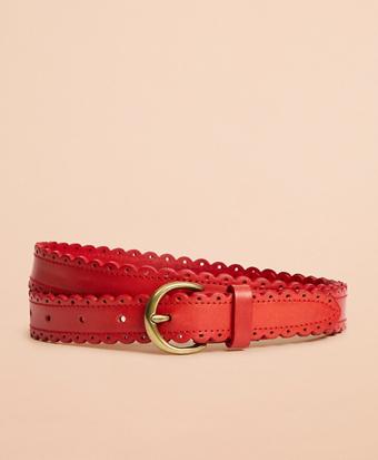 Scalloped Leather Belt