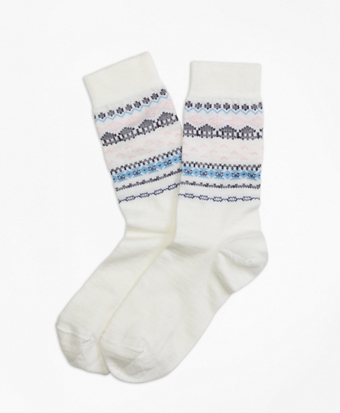 Wool-Blend Fair Isle Socks