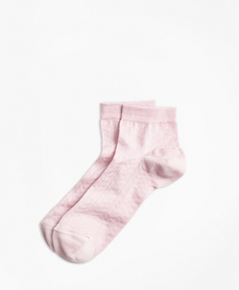 Cotton Open-Knit Chevron Socks