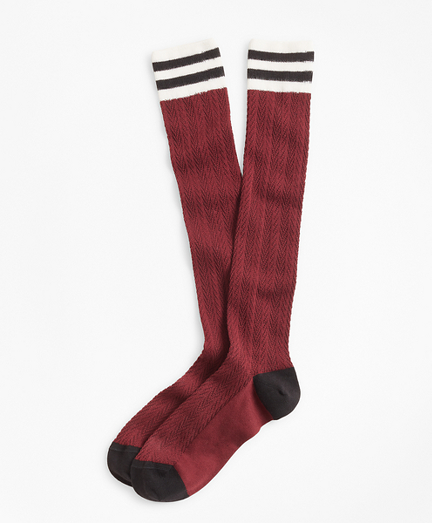 Cable-Knit Stretch-Cotton Knee Socks