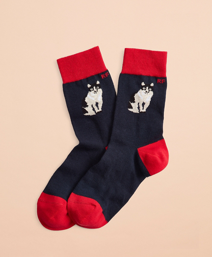 Cat-Pattern Socks