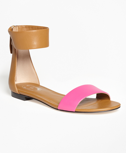Color-Block Ankle-Strap Sandals